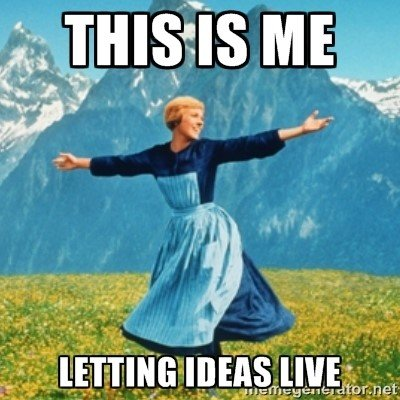Marketing Resolutions: This is me...letting ideas live.