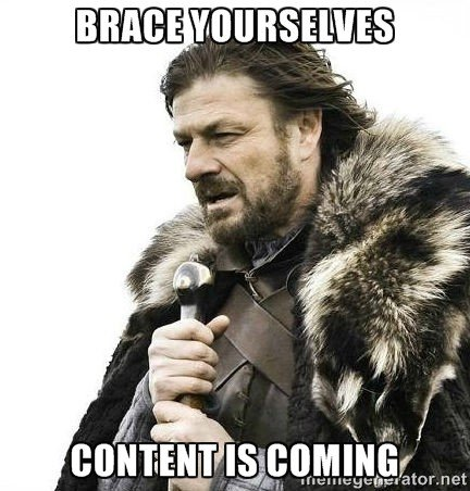 Marketing Resolutions: Content is coming.