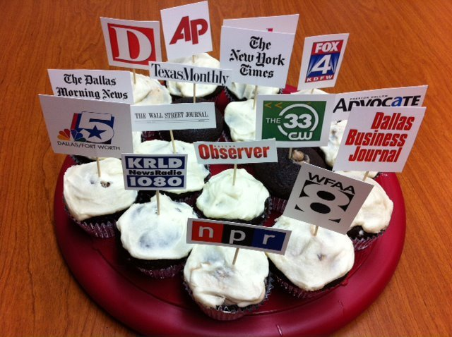 Media Relations Cupcakes