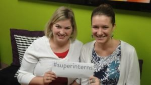 Our #superinterns: Molly (left) and Katie (right)