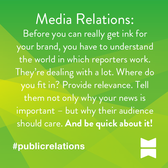 It's not only about why your news is relevant, it's about why your audiences should care.