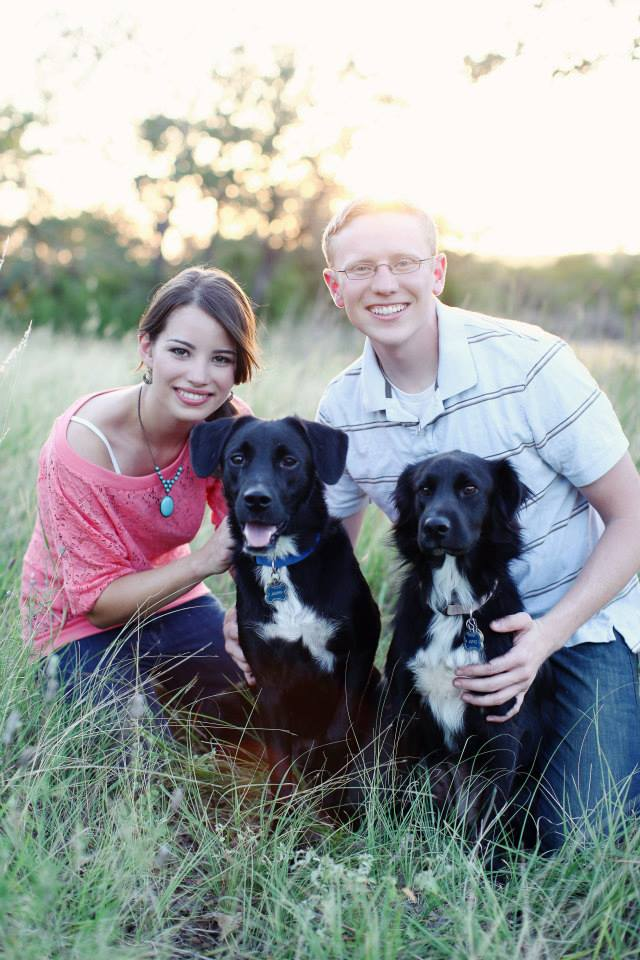 Marketwave employee Bana Jobe, along with her husband Cade and two rescues, Juno and Jasper.